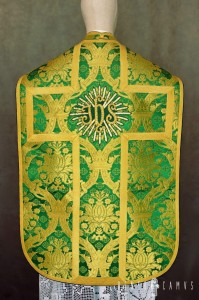Roman chasuble with IHS application