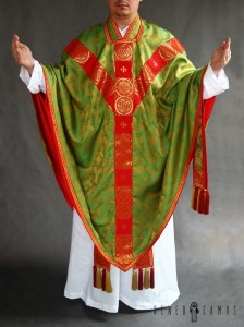 Silk conical chasuble